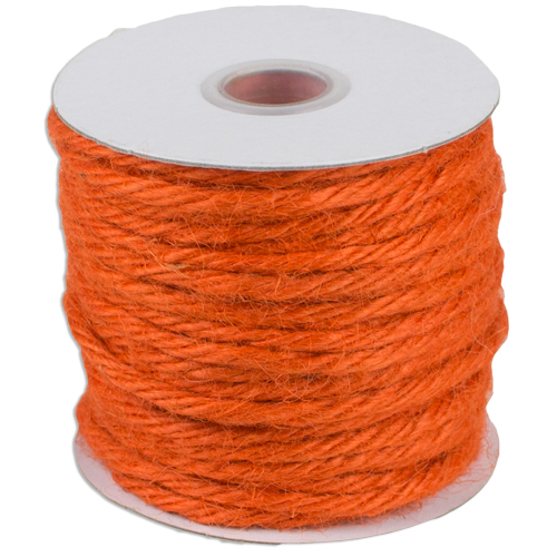 3.5mm 25 Yards of Jute Cord - Orange