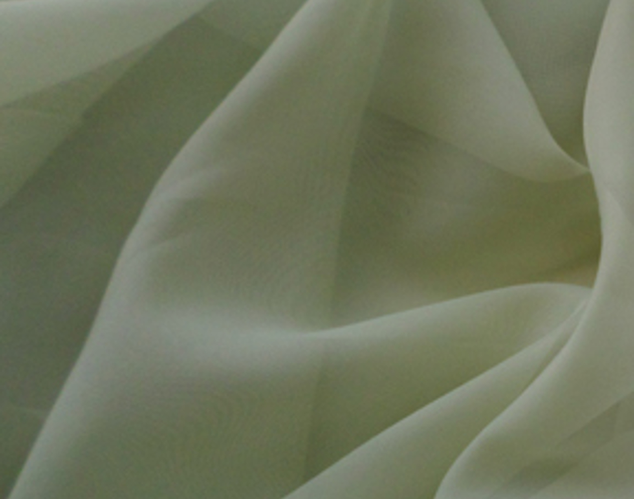 "118"" Sage Voile Fabric By The Yard"