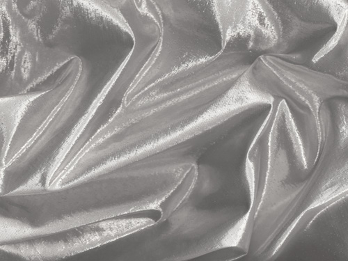 "45"" Silver Lame Fabric - Per Yard"