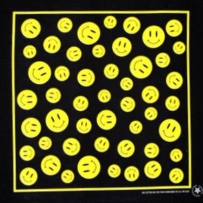 "Smiley Face Bandanas - 12 Pack 22"" x 22"""