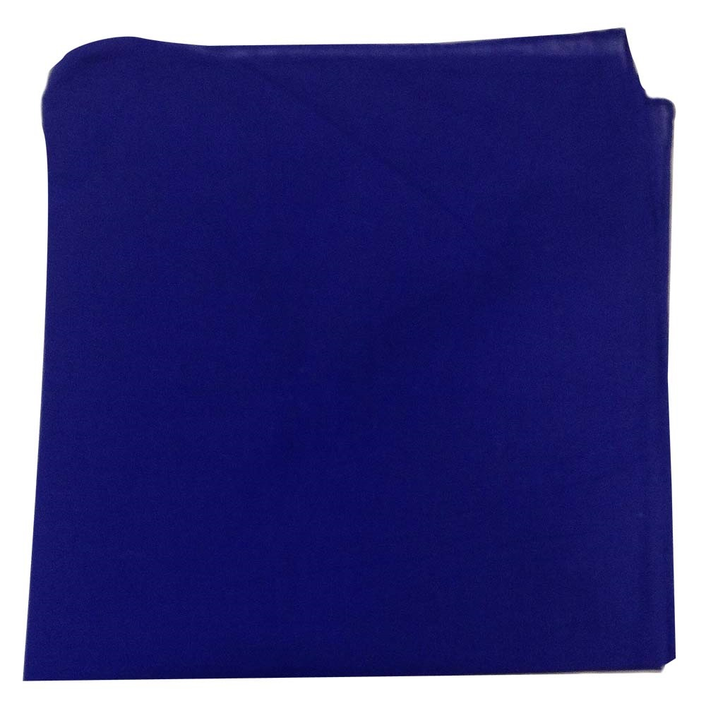 "14"" x 14"" Blue Bandana Solid Color 100% Cotton"