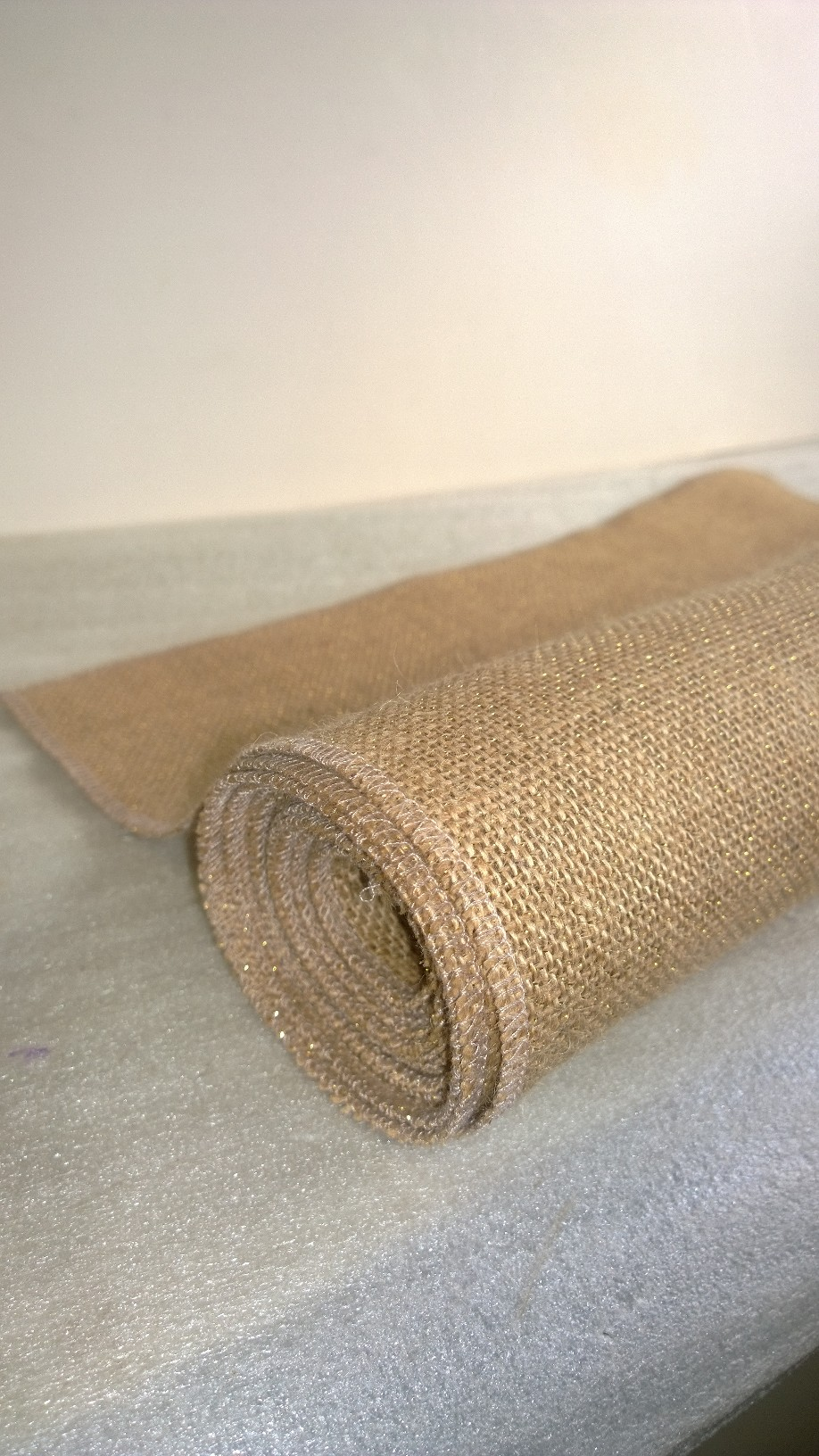 Natural Sparkle Burlap Runner 14 x 72