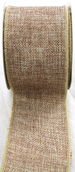 "Natural Sparkle Faux Burlap Ribbon - 2.5"" x 10 Yards"