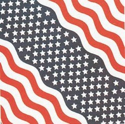 "Stars and Stripes Bandana 22"" x 22"""