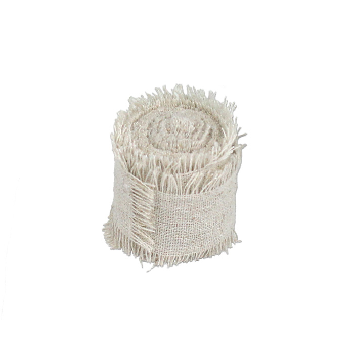 "1"" Linen Ribbon - 5 Yard (Fringed edges)"