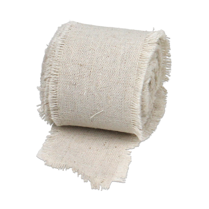 "2"" Linen Ribbon - 5 Yard (Fringed edges)"
