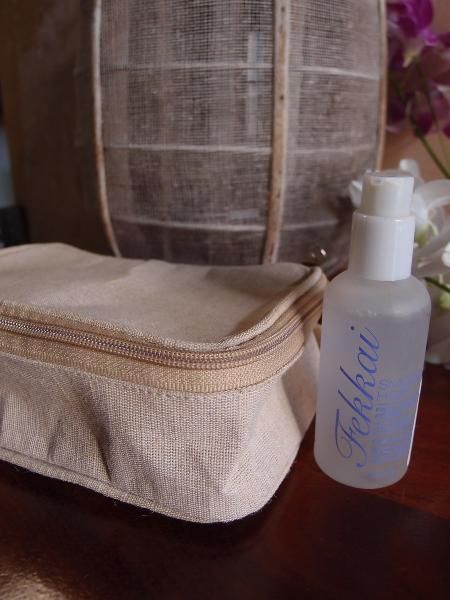 "Burlap Travel Kit Bag 8""W x 5.25H"" x 3""D Dopp Kit"