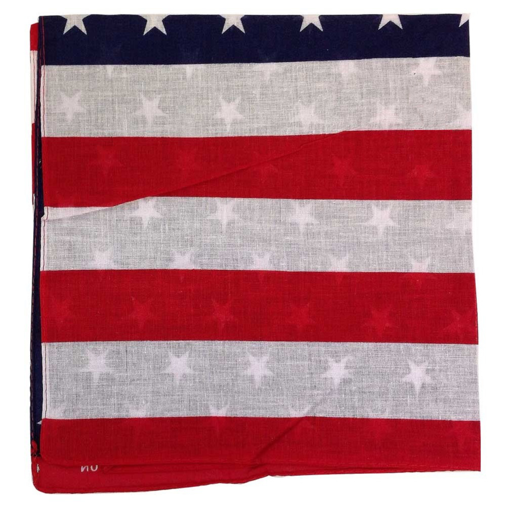 "American Flag Bandana - 22"" x 22"" - (100% cotton)"