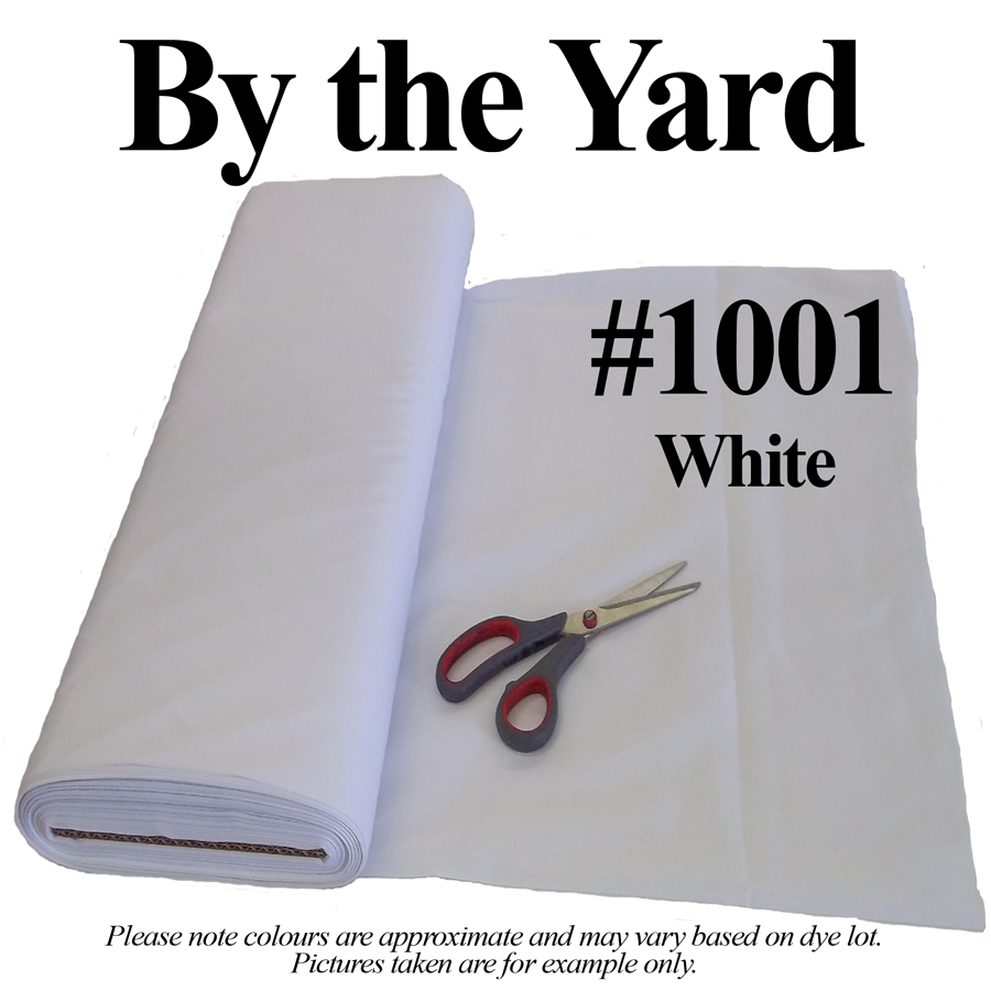 "White Broadcloth Fabric 45"" - By The Yard"