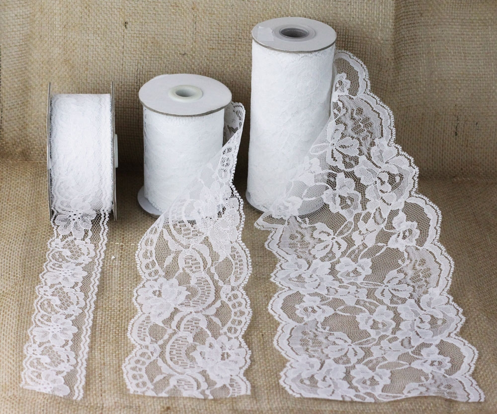 Lace Ribbons - White
