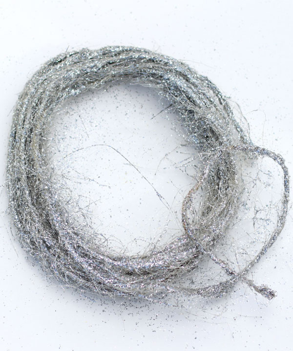 Wired Silver Sisal Twine - 10 Meters