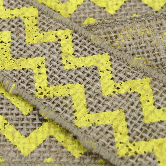 "1.5"" Yellow Chevron Burlap Ribbon - 10 Yards"