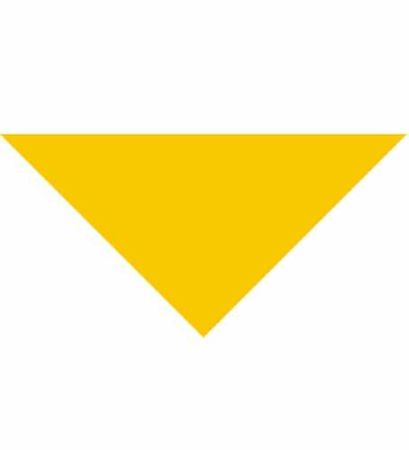 "Yellow Triangle Bandanas 22"" x 22"" x 30"" (12 Pack)"