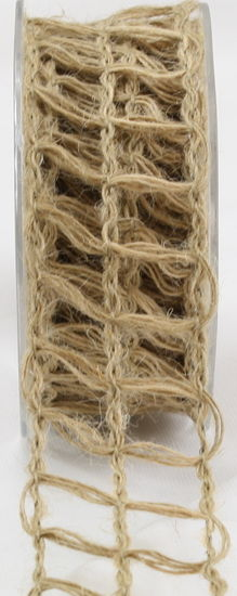 "1.5"" Net Natural Burlap Ribbon - 10 Yards"