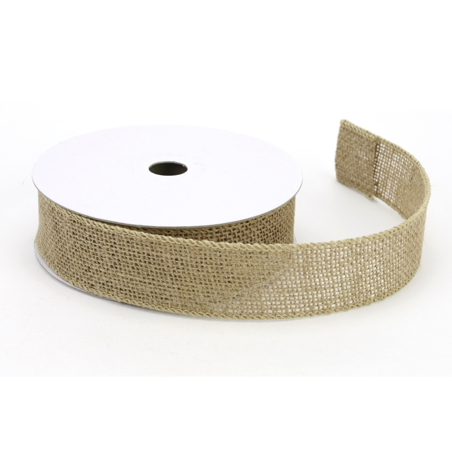 "1.5"" Wired Natural Burlap Ribbon - 10 Yard Roll"
