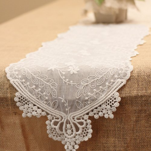 "Ivory Lace Runner 12"" x 74"""