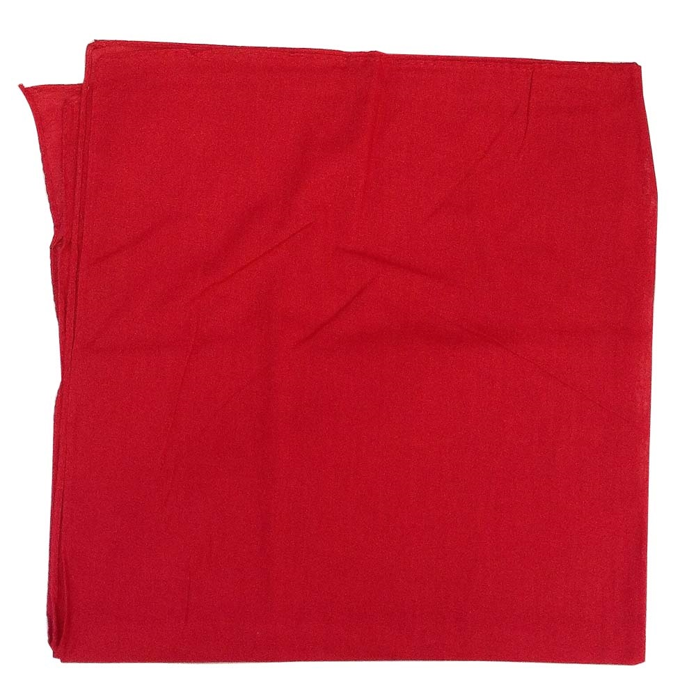 "14"" x 14"" Red Bandana Solid Color 100% Cotton"