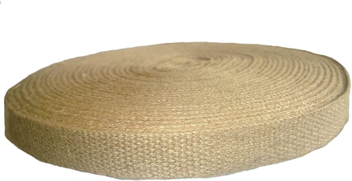 "1"" Natural Jute Webbing - 72 Yards"