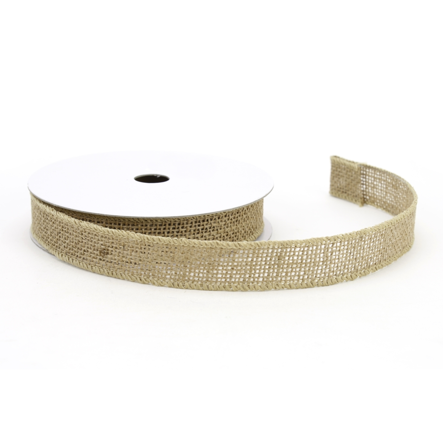 "1"" Wired Natural Burlap Ribbon - 10 Yard Roll"