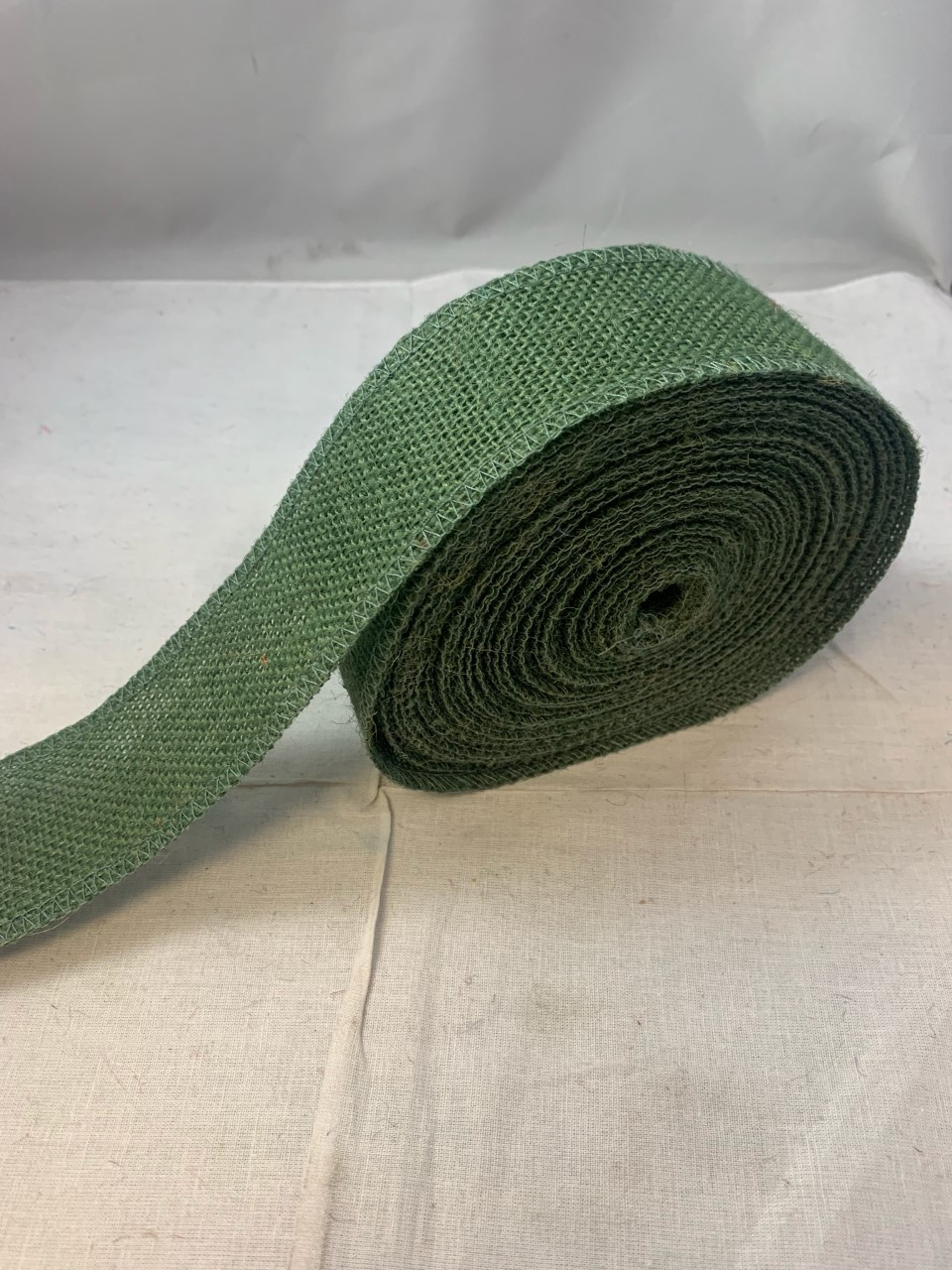 "2"" Hunter Green Burlap Ribbon - 10 Yards (Serged) Made in USA"
