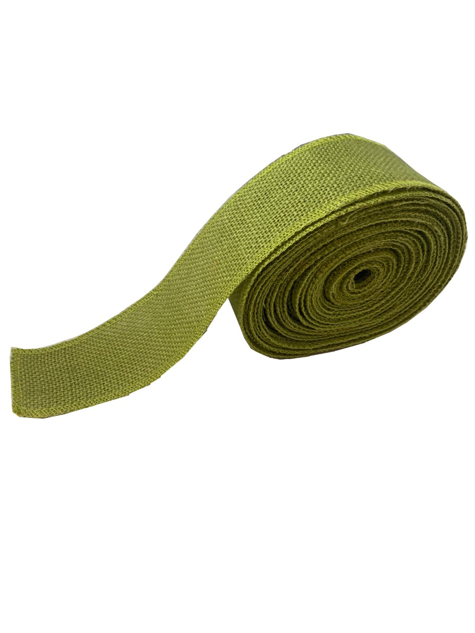 "2"" Avocado Burlap Ribbon - 10 Yards (Serged) Made in USA"