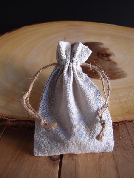 3 x 4 Linen Favor Bags with Jute Draw dozen