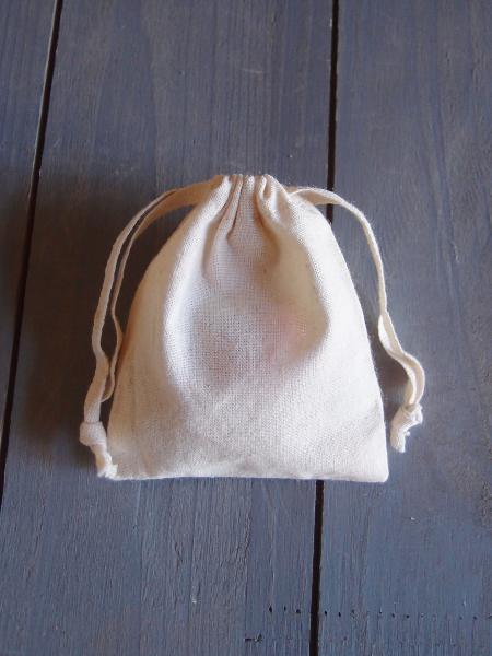 "3"" X 4"" Muslin Bags with Cotton Drawstring (12 Pk)"