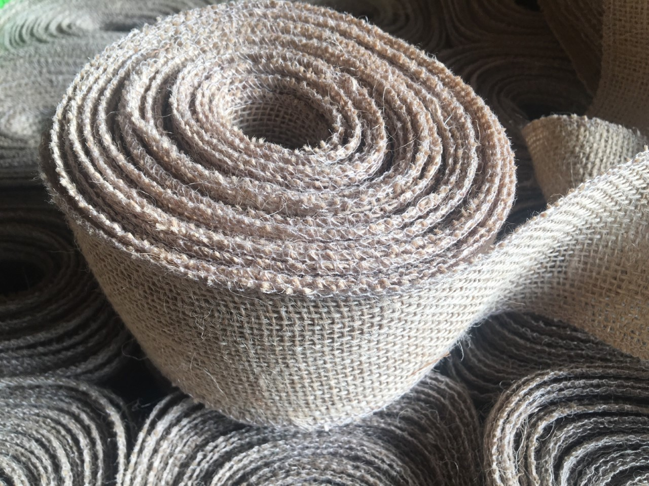 "3"" Wide Burlap Ribbon - 10 Yards (Sewn Edges)"