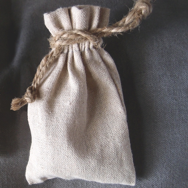 3 x 5 Linen Favor Bags with Jute Draw (dozen)