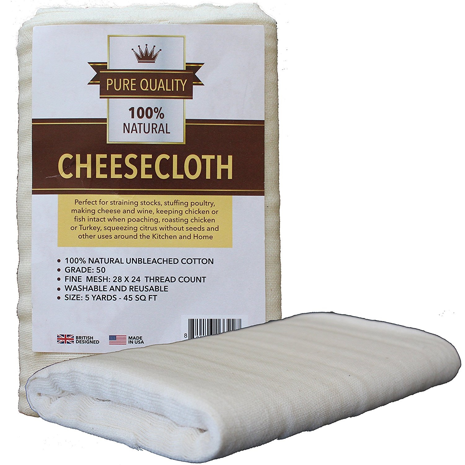 50 Grade Cheesecloth 45 Square Feet