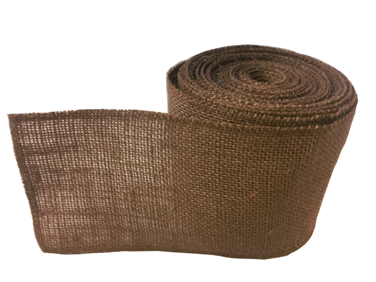 "4"" Brown Burlap Ribbon - 10 Yards (Sewn Edges)"
