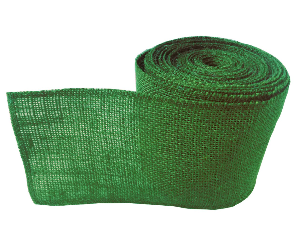 "4"" Emerald Green Burlap Ribbon - 10 Yards (serged)"