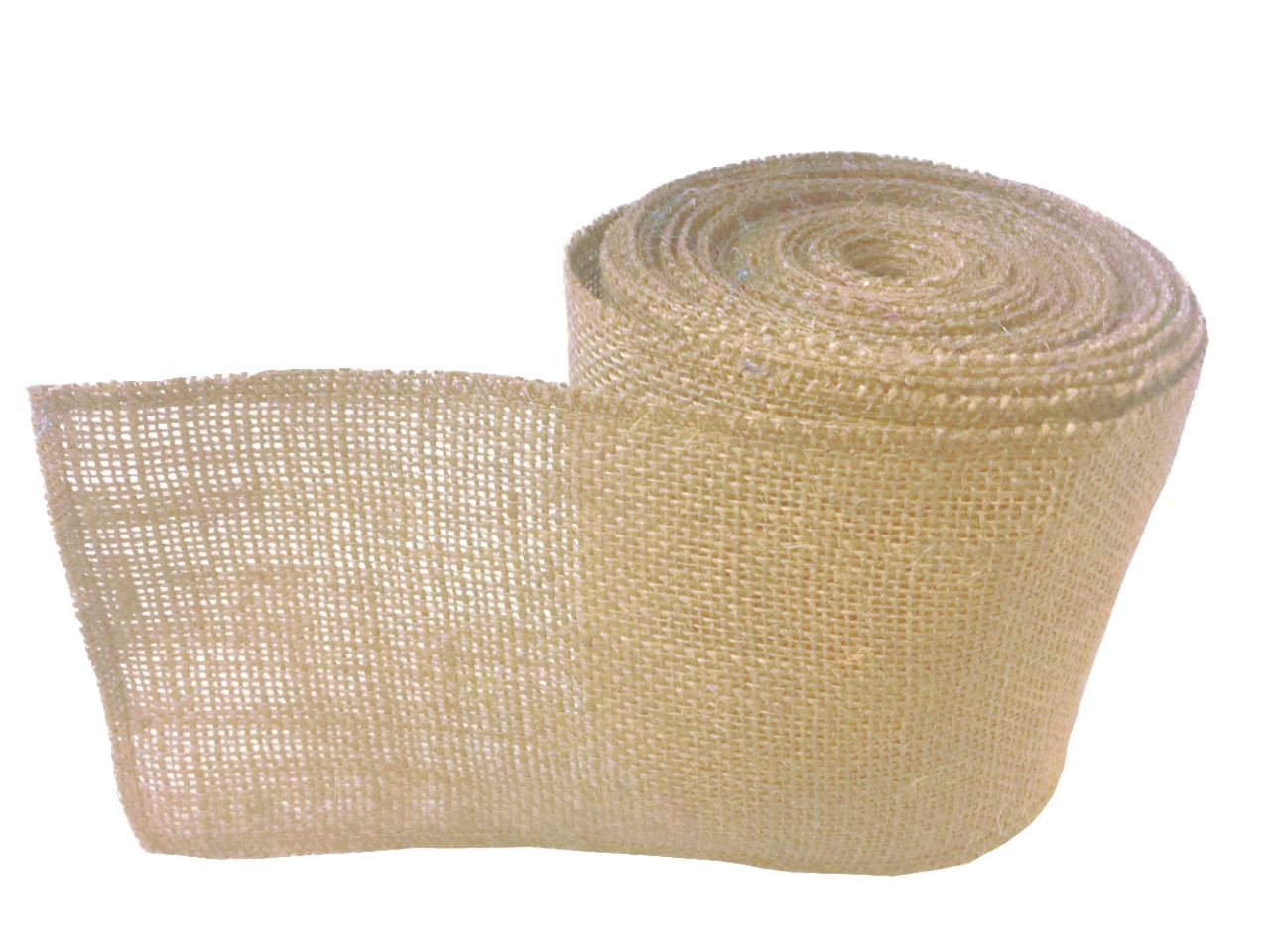 "4"" Florida Sand Burlap Ribbon - 10 Yards (Sewn Edges)"