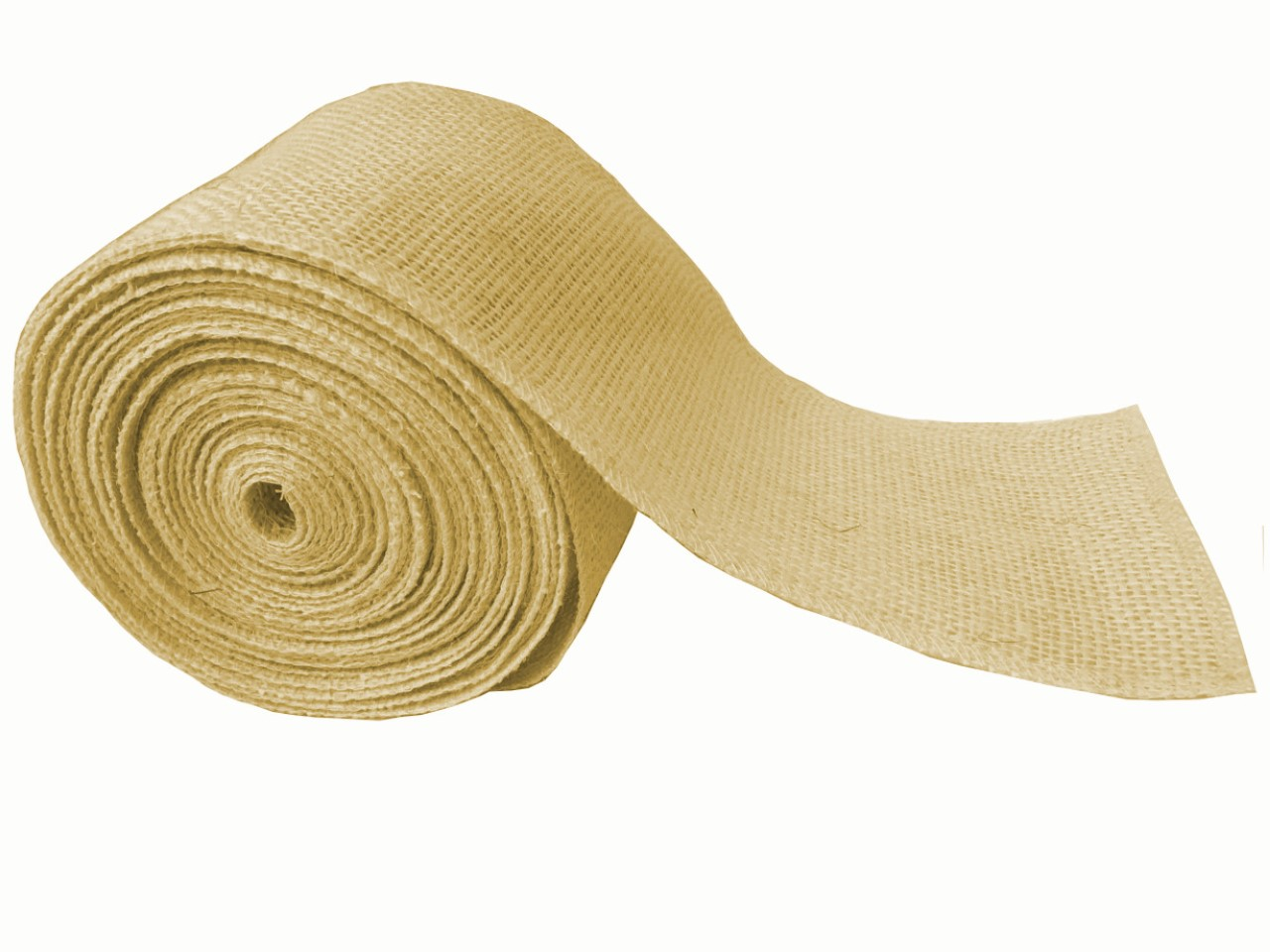 "4"" Butter Burlap Ribbon - 10 Yards (Serged)"