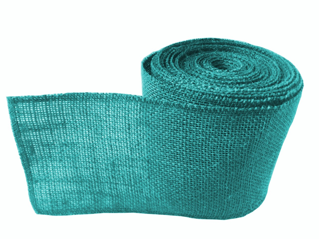 "4"" Jade Burlap Ribbon - 10 Yards (Sewn Edges)"