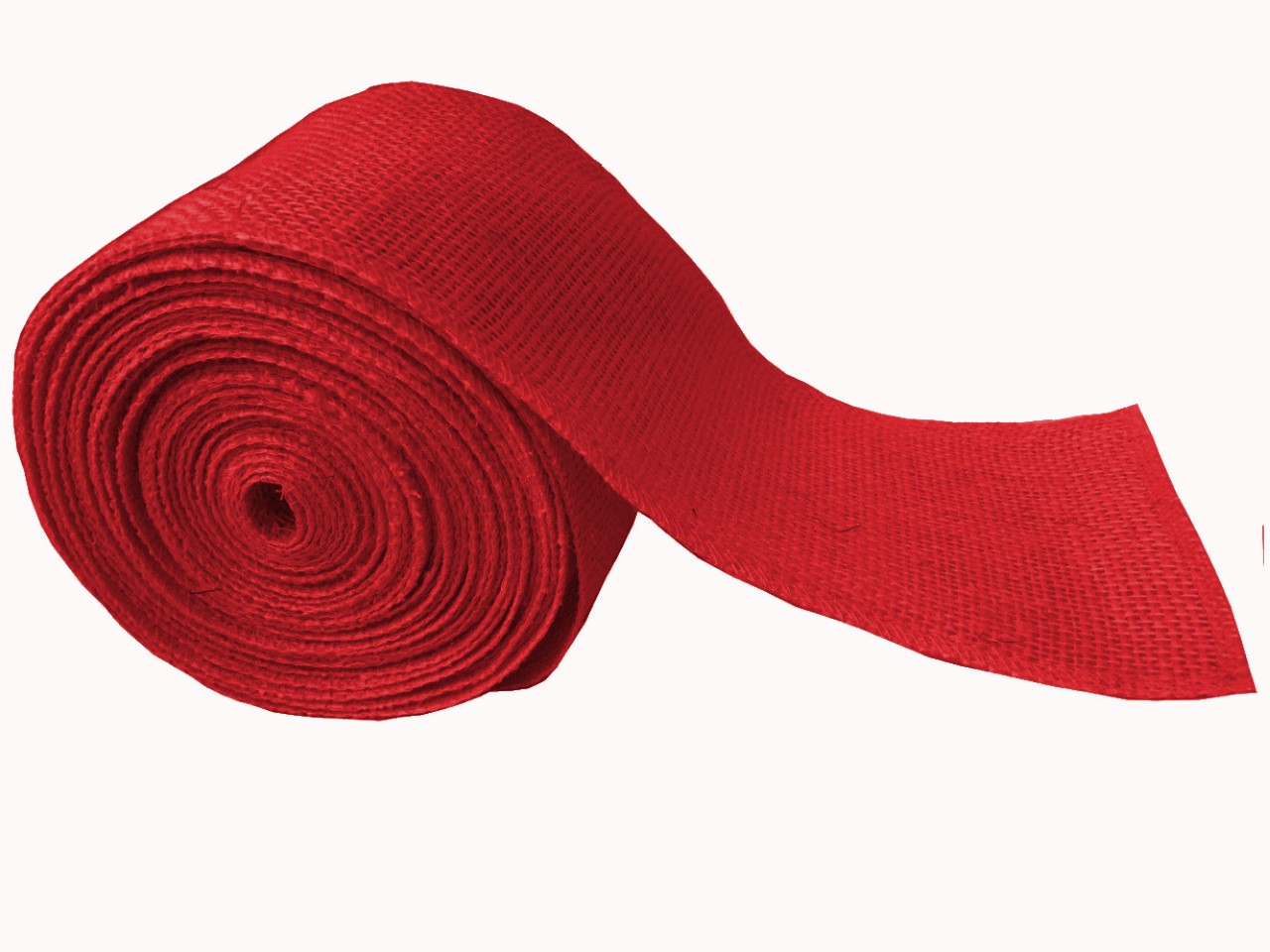 "4"" Red Burlap Ribbon - 10 Yards (serged)"