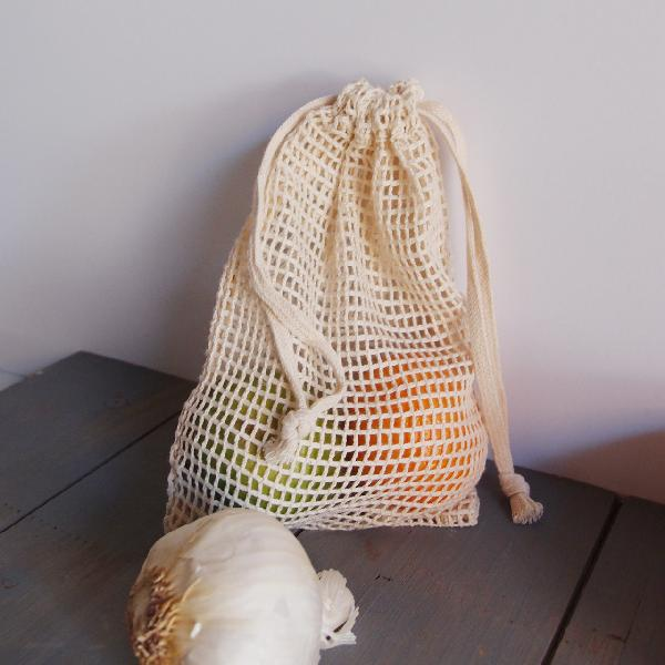 "Cotton Mesh Bags with Drawstring 5"" x 7"" (12 pk)"