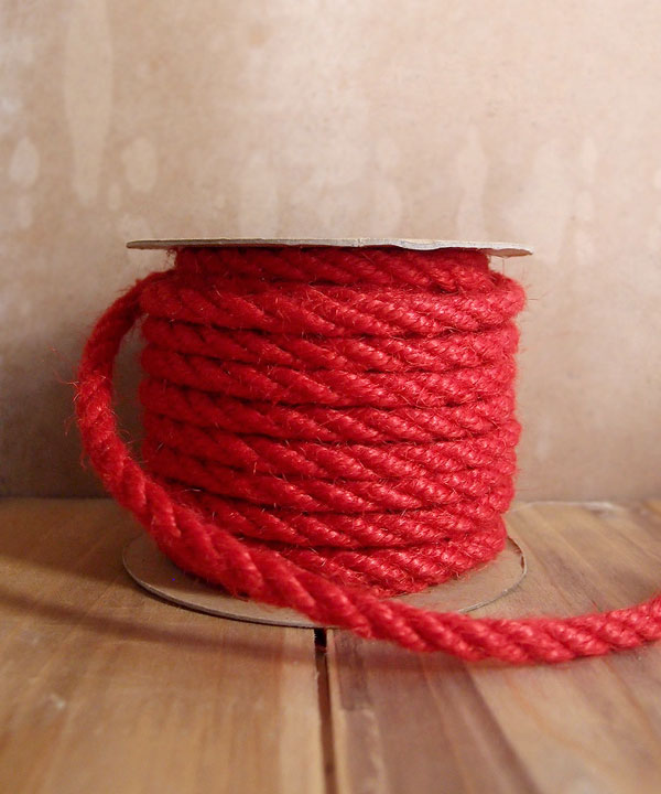 6mm Red Jute Twine 10 Yards