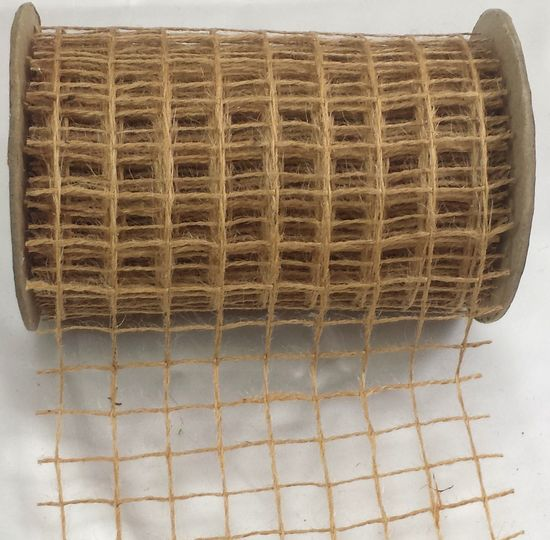 "Net Burlap Ribbon 6"" x 10 Yards (30 ft)"