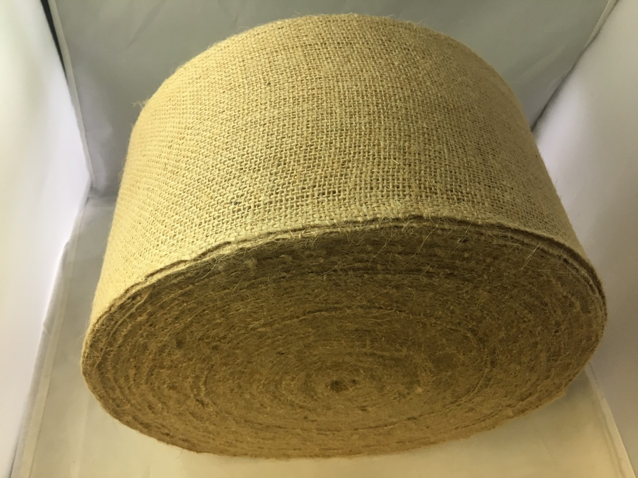 "6"" Premium Burlap 100 Yard Roll Sewn Edges"