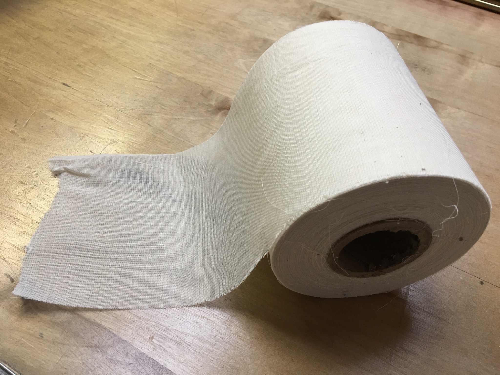 "6"" Wide Grade 90 Unbleached Cheesecloth Roll - 100 Yards"