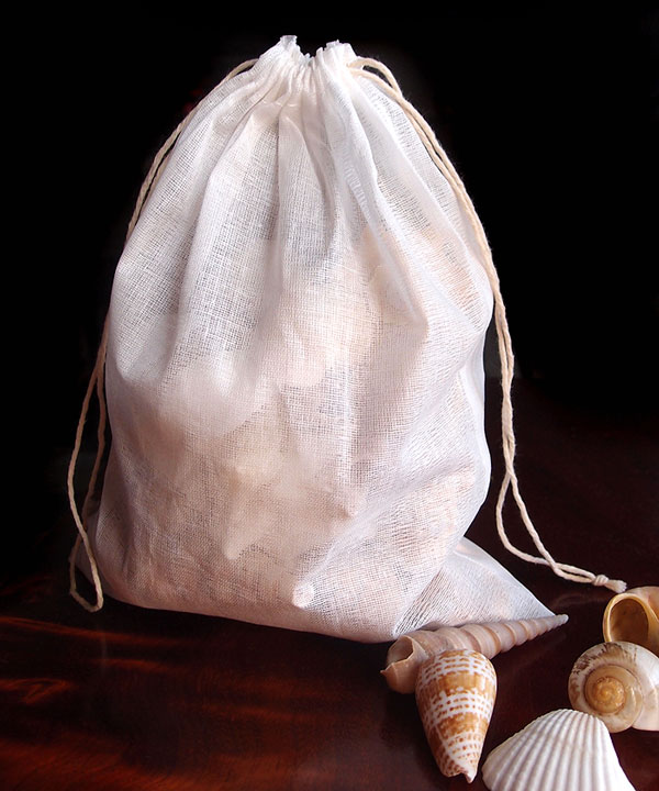 "Cheesecloth Bags with Cotton Drawstring 8"" x 10"" (12 pk)"