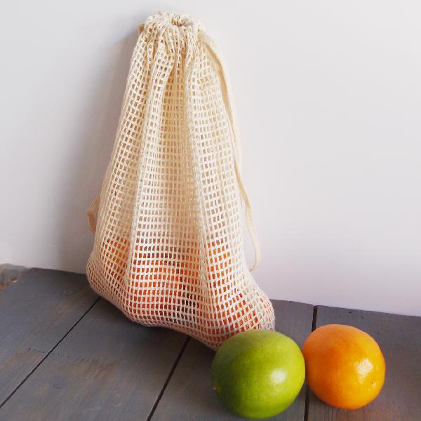 "Cotton Mesh Bags with Drawstring 8"" x 10"" (12 pk)"