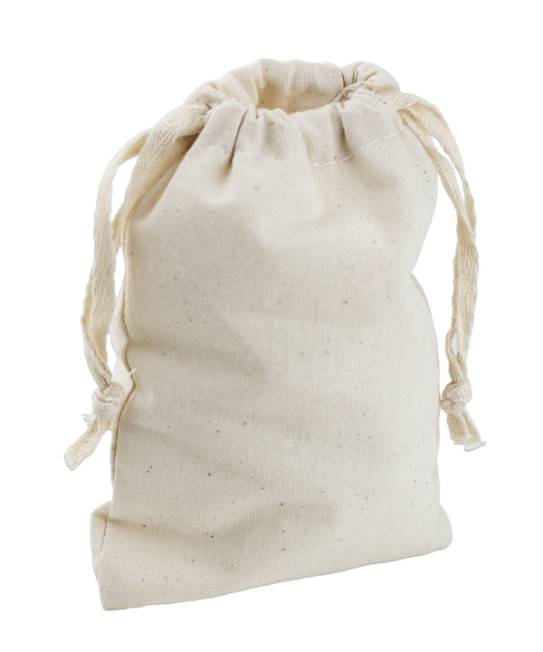 "8"" X 10"" Muslin Bags With Cotton Drawstring (12 PK)"