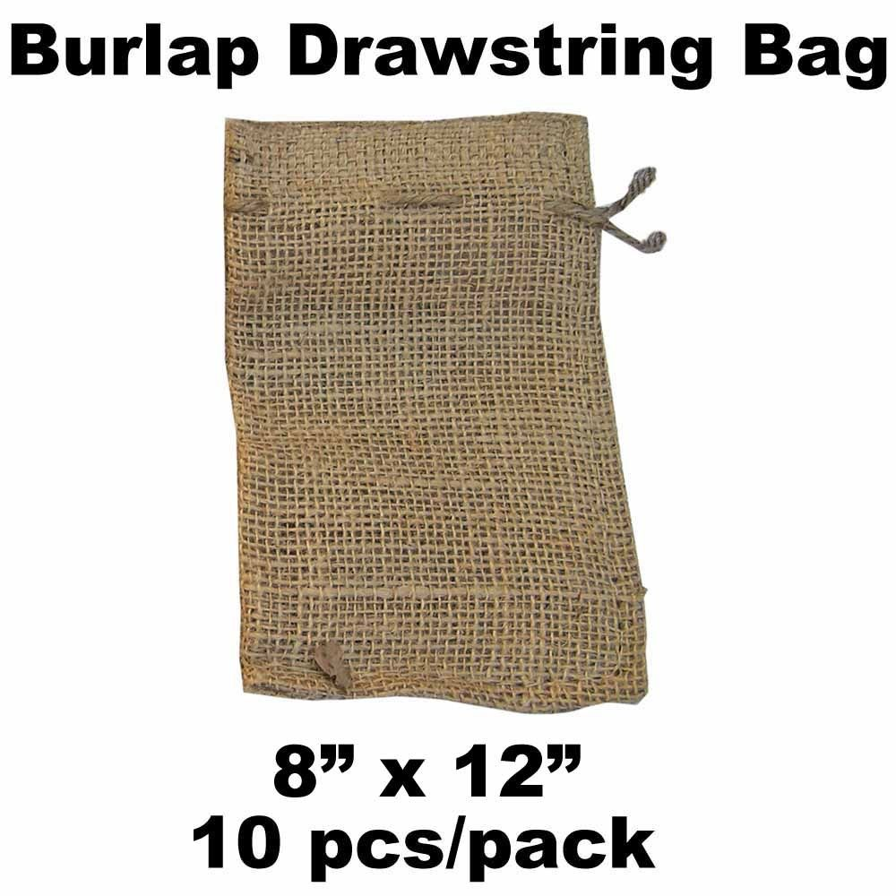 "8"" x 12"" + Drawstring (Jute) - Bundle of 10"