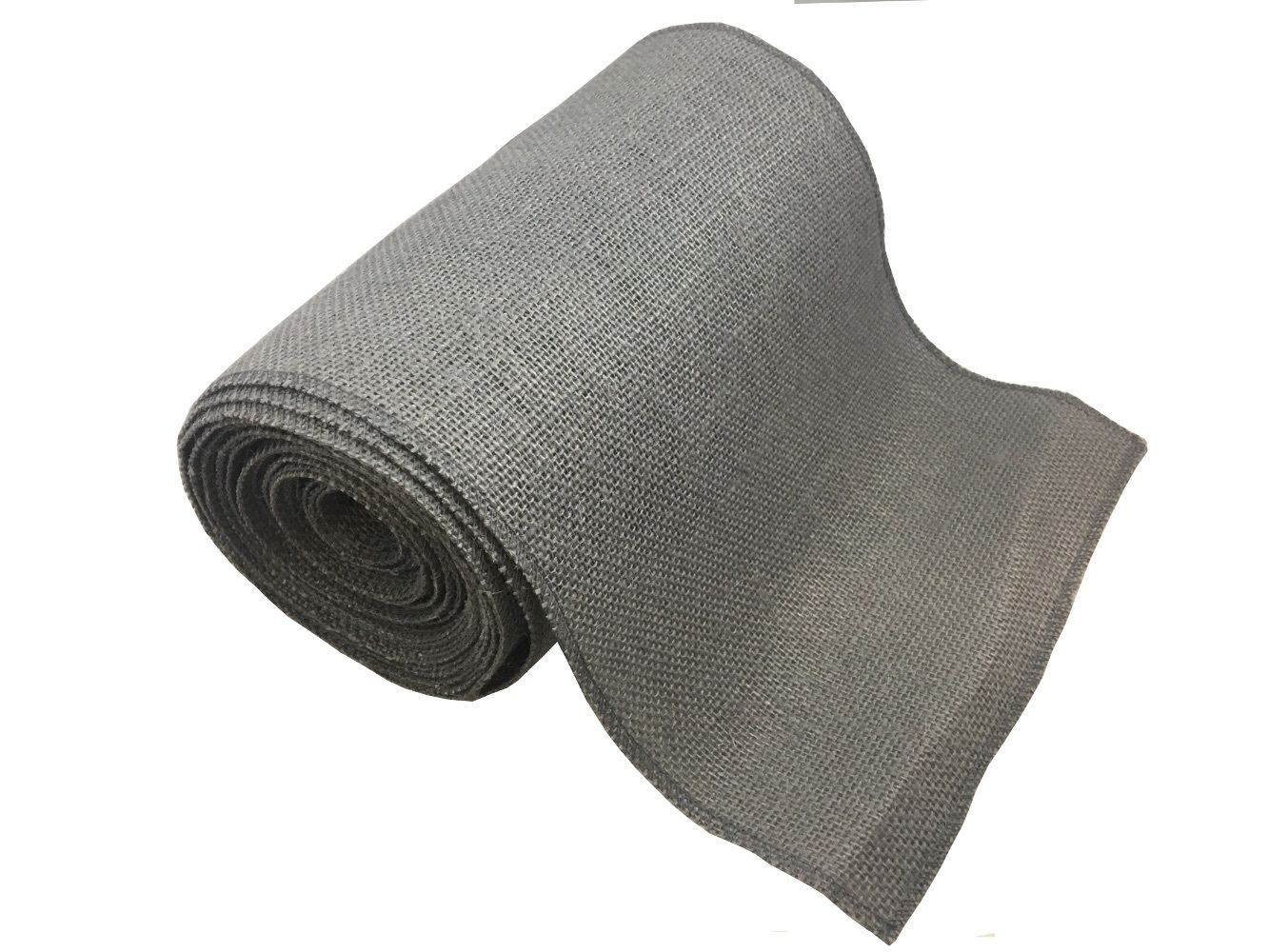 "9"" Charcoal Grey Burlap Ribbon - 10 Yards (Serged) USA MADE"