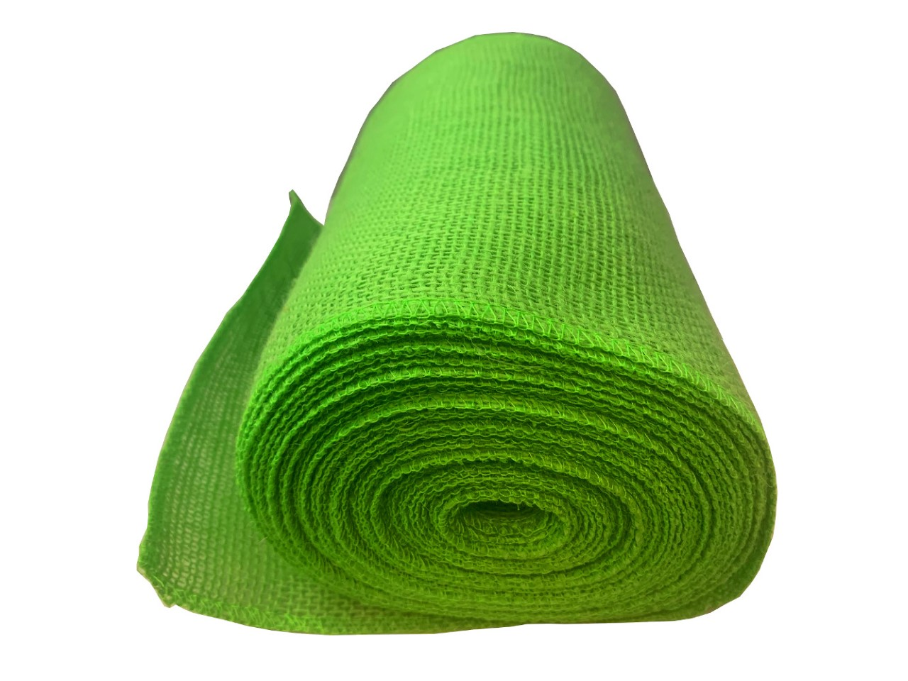 "9"" Lime Burlap Ribbon 10 Yard Roll - Made in USA (serged)"