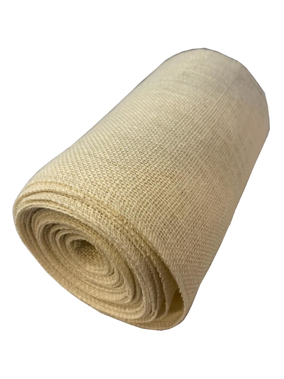 "9"" Oyster Burlap Ribbon 10 Yard Roll - Made in USA (serged)"
