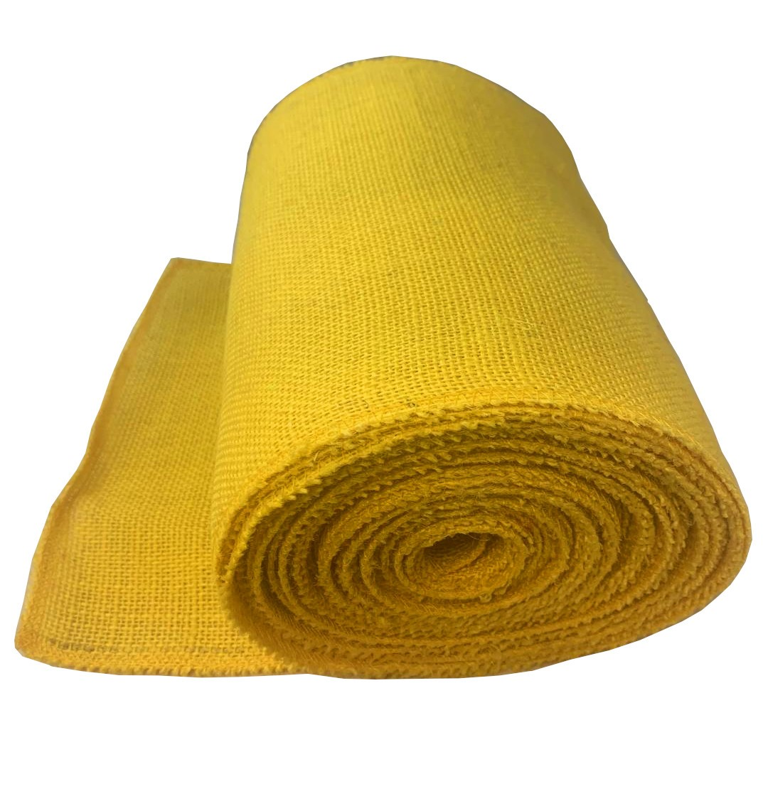 "9"" Yellow Burlap Ribbon 10 Yard Roll (Serged) Made in USA"