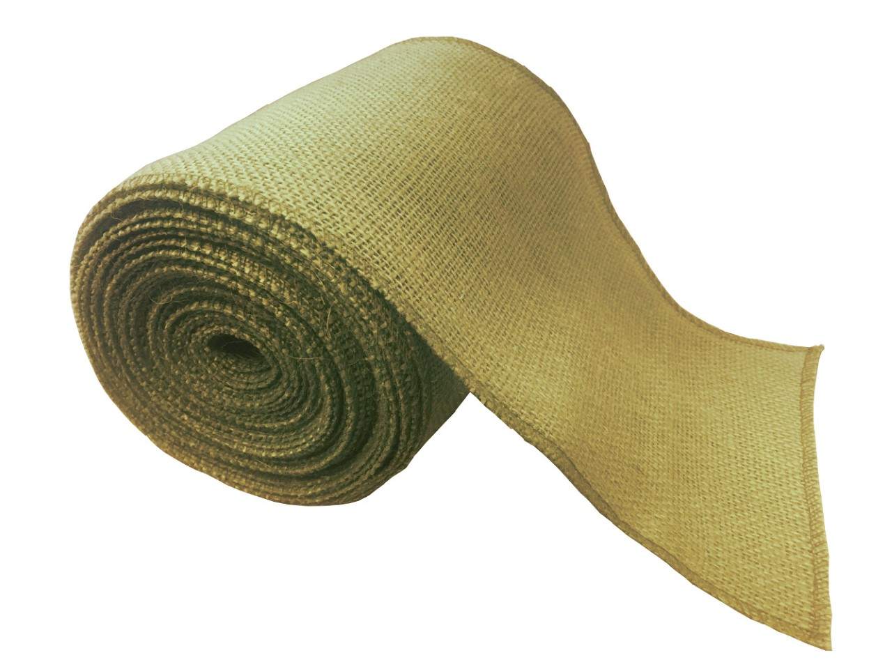 "6"" Avocado Burlap Ribbon - 10 Yards (Serged)"